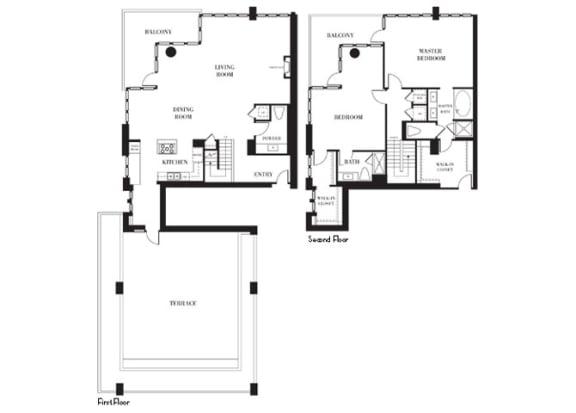 San Francisco - Penthouse Floorplan at Astoria at Central Park West Apartments