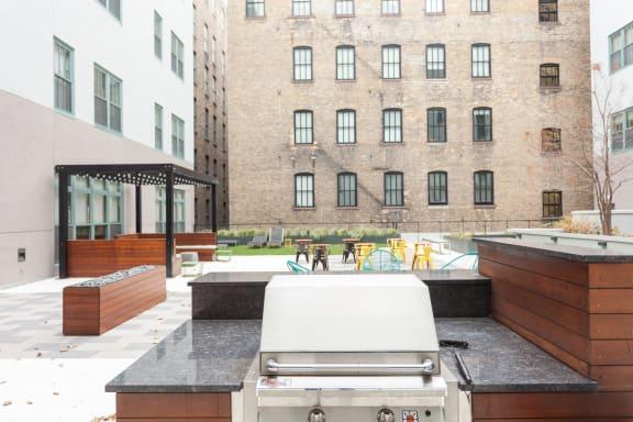 Grilling Area at Cosmopolitan Apartments, Saint Paul, 55101