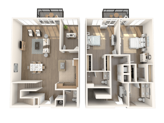 Los Angeles Penthouse Floorplan