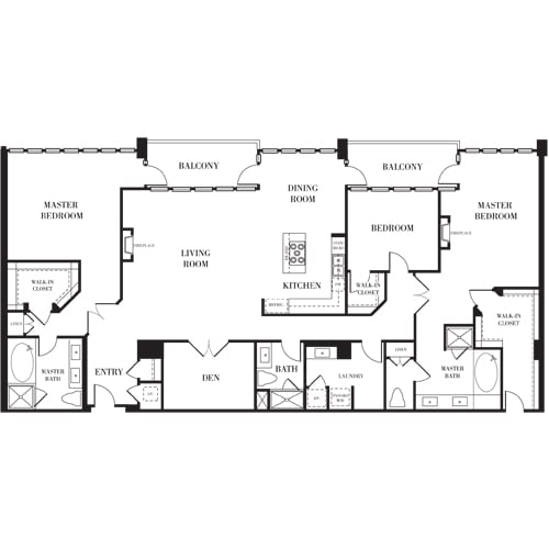 Madison Floorplan at Astoria at Central Park West Apartments
