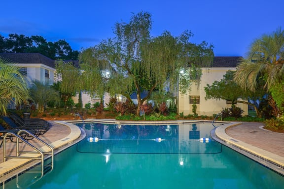 Sparkling Pool with NEW Furniture at The Flats at Seminole Heights, 4111 N Poplar Ave, FL 33603