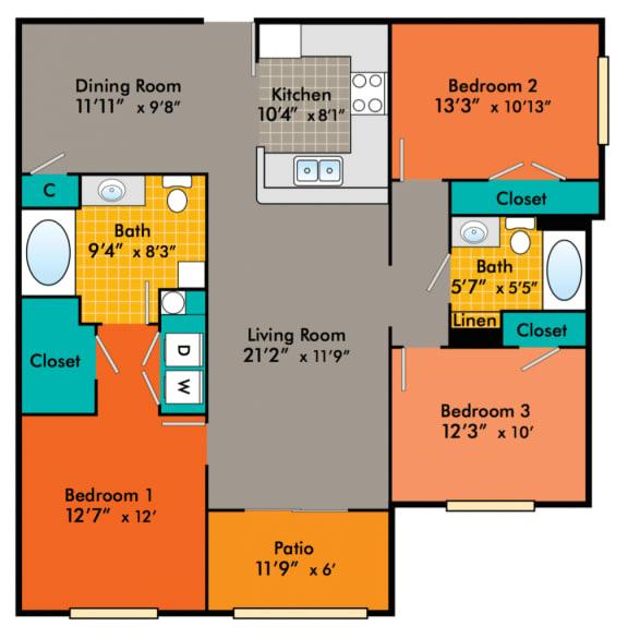 Three-Bedroom-Apartments-in-Durham-NC-for-rent-Washington-1008x1024