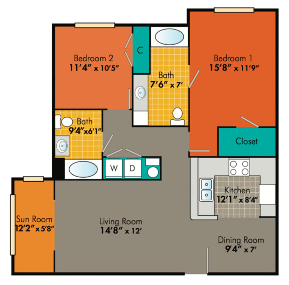 Two-Bedroom-Apartments-in-Durham-NC-for-rent-Jefferson-1024x1010