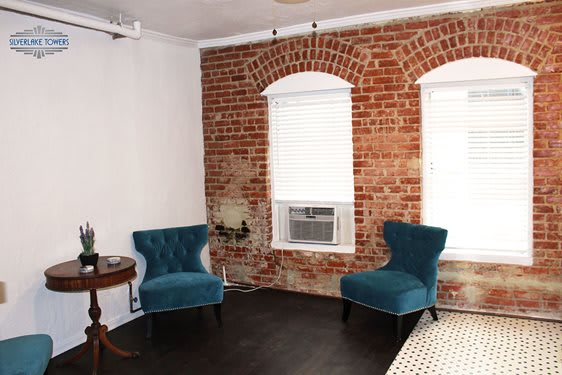 Silver Lake Towers Second Floor Lobby with exposed brick
