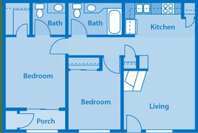 Villas at Montebella 2A Floor plan 2d image depicting floor play layout.
