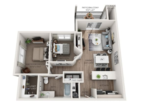 paradise floorplan dimensioned