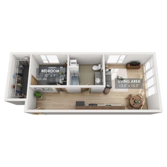 Boxcar Passenger Floor Plan