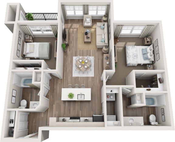 Floor Plan  Stevens 3d floorplan