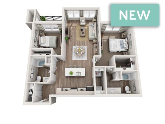 Floor Plan  Stevens II 3D floorplan