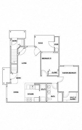 Floor Plan  Two Bedroom Apartment Floor plan
