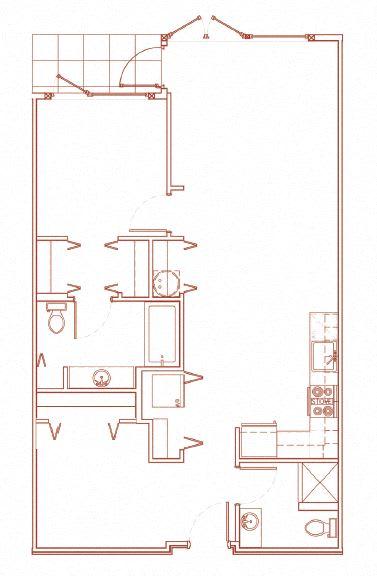 Floor Plan  H 1x1 Den