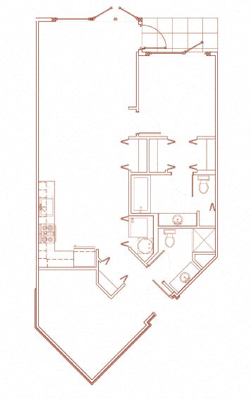 Floor Plan  I 1x1 Den