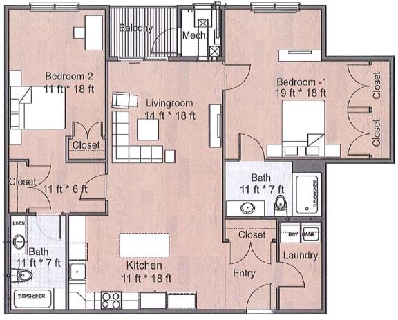 Floor Plan  2 Bedroom Luxury Sto Floor Plan