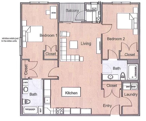 Floor Plan  2 Bedroom 2 Bathroom Sto Floor Plan
