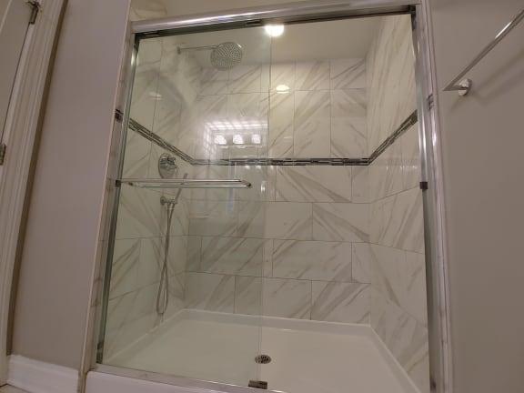 Rainfall Showerhead at Somerset Place Apartments, Illinois
