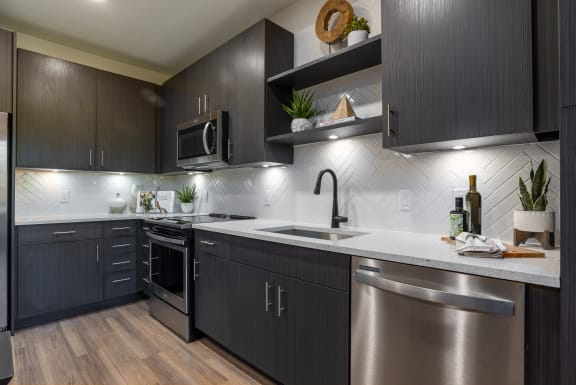 Quartz Countertops In Kitchen at Alta Longwood, Longwood, FL