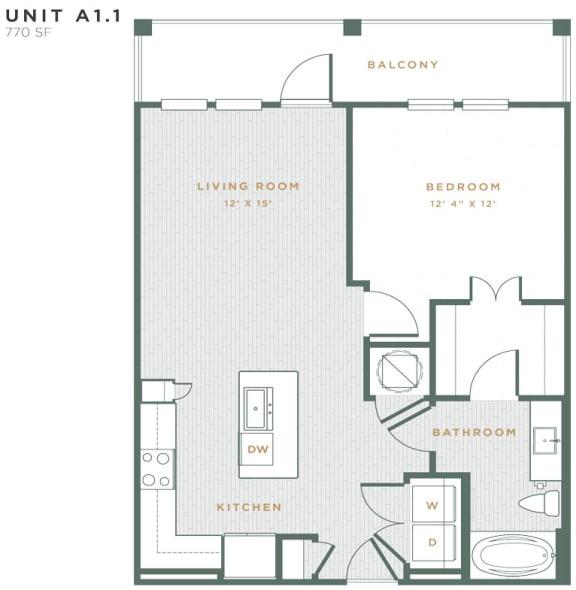 A1.1 Floor Plan at Alta East Shore, Apopka, FL