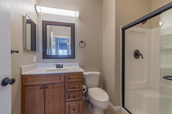 Modern Bathroom Fittings at Renaissance at the Power Building, Cincinnati