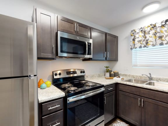 Stainless steel refrigerator at Coldwater Flats in Evansville