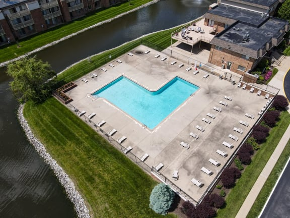 Ariel view at Lawrence Landing, Indianapolis