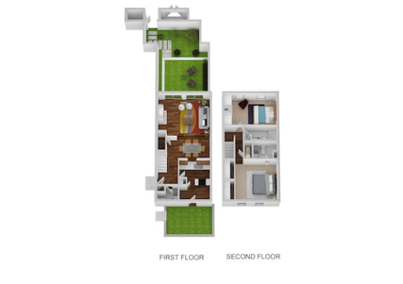 Floor Plan  Fairfax Floor Plan at Indian Creek Apartments, Cincinnati, 45236