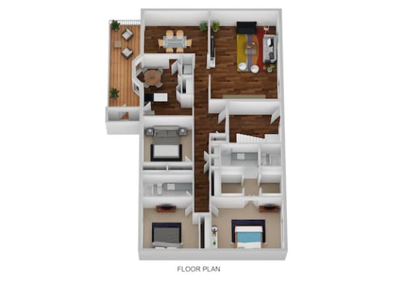 Floor Plan  Gloucester I & II Floor Plan at Indian Creek Apartments, Cincinnati, Ohio