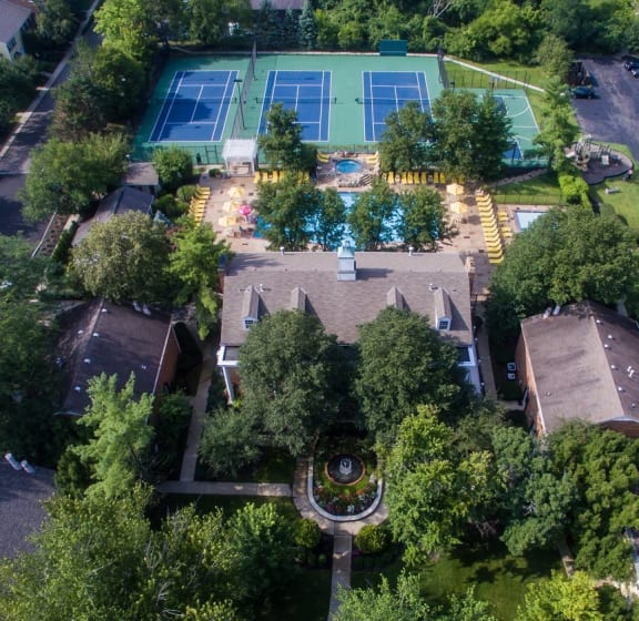Aerial View Of The Community at Indian Creek Apartments, Ohio, 45236