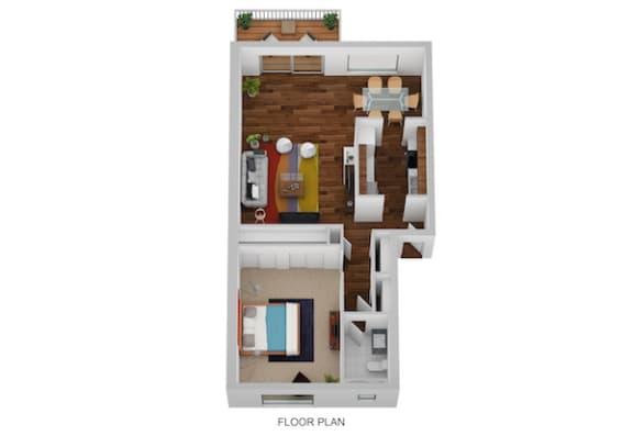 Floor Plan  Ipswich Floor Plan at Indian Creek Apartments, Cincinnati