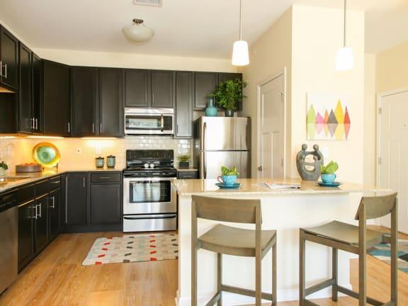 Kitchen view at Monmouth Row Apartments, Newport, Kentucky