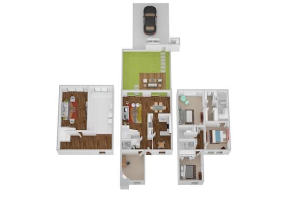 Floor Plan  Monticello I & II Floor Plan at Indian Creek Apartments, Cincinnati, OH