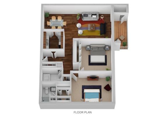Floor Plan  Randolph Floor Plan at Indian Creek Apartments, Cincinnati