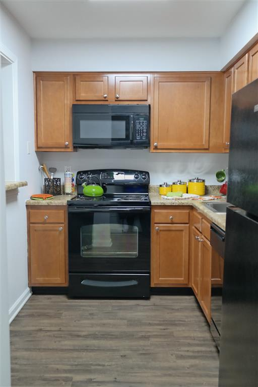 Fully Furnished Kitchen at Lawrence Landing, Indianapolis, IN, 46226