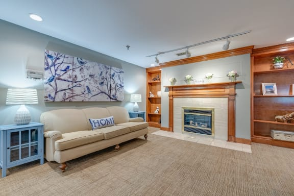 Fireplace at The Valley: Active Senior Living, Cincinnati, 45242