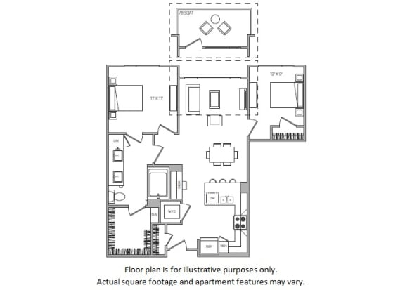 Floor Plan  1 Bed G at Cannery Park by Windsor, San Jose, California