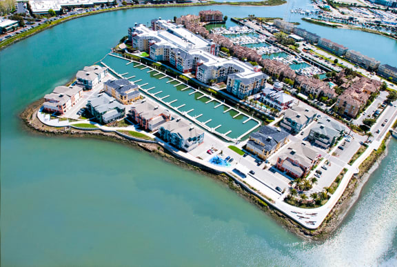 Arial View of Community at Blu Harbor by Windsor, Redwood City, California