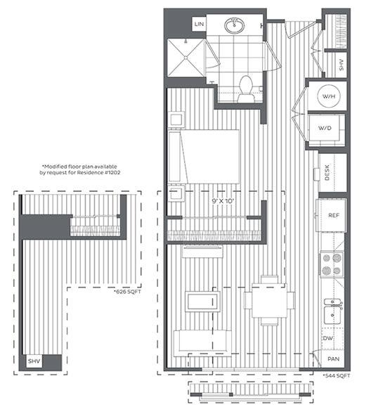1A Floor Plan at Platt Park by Windsor, Denver, Colorado