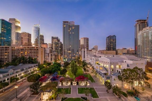 Views from deck at Renaissance Tower, California, 90015