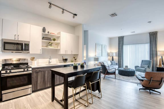 Open-concept kitchen, at Windsor at Hopkinton, Hopkinton, MA