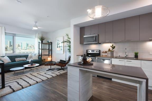 Living Room off Kitchen at Mission Bay by Windsor, San Francisco, CA, 94158
