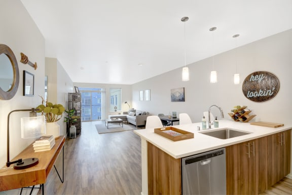 Open and Airy Layout at The Whittaker, Seattle, Washington