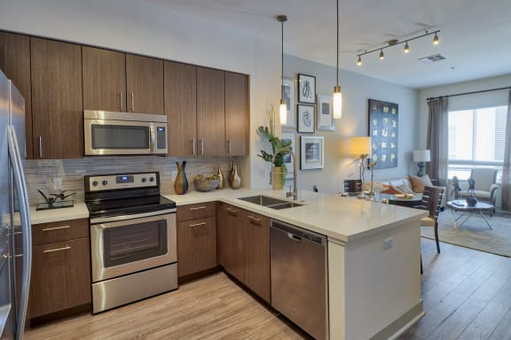 Modern kitchen at Olympic by Windsor, 936 S. Olive St, 90015