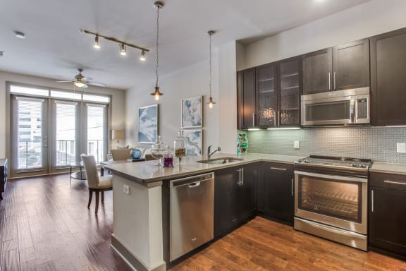 Spacious Kitchen with Maple Cabinets at Windsor CityLine, Richardson, 75082