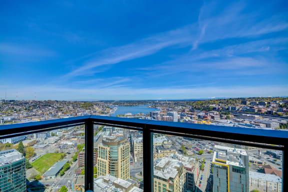 Stunning Views of Downtown Seattle From Balconies at Cirrus, 2030 8th Avenue, WA