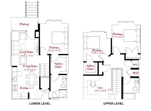 Floor Plan  C2 Townhome