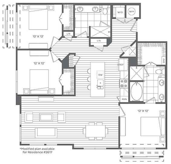 3A Floor Plan at Platt Park by Windsor, Denver