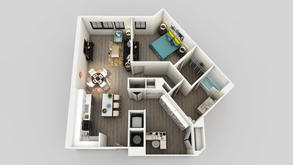 Floor Plan  One Bed One Bath Floor Plan at Edison on the Charles by Windsor, Waltham, Massachusetts