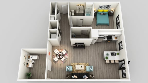 Floor Plan  1 Bed 1 Bath Floor Plan at Edison on the Charles by Windsor, Waltham