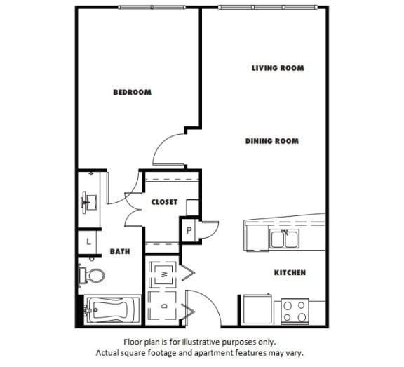Floor Plan  A2 floor plan at Windsor Metro West, Texas, 75024