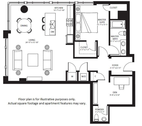 Floor Plan  A26 North NEW at The Bravern, 688 110th Ave NE, 98004