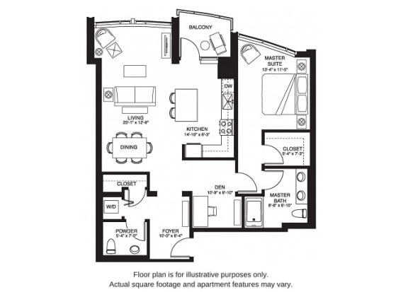 Floor Plan  A27 South at The Bravern, 688 110th Ave NE, 98004